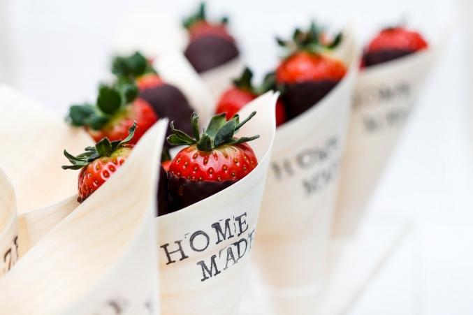 cornet de fraises