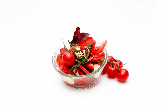dessert au fruit rouge